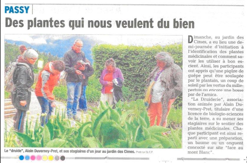 Stage La Druiderie Jardin des Cimes Passy